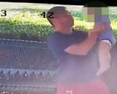.jpg photo of evidence posted on Facebook of Father abusing son.